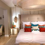 White Contemporary Bed With Stylish Ceiling Bedroom Designs