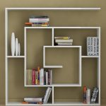 White Decorative Wooden Wall Shelves For Books
