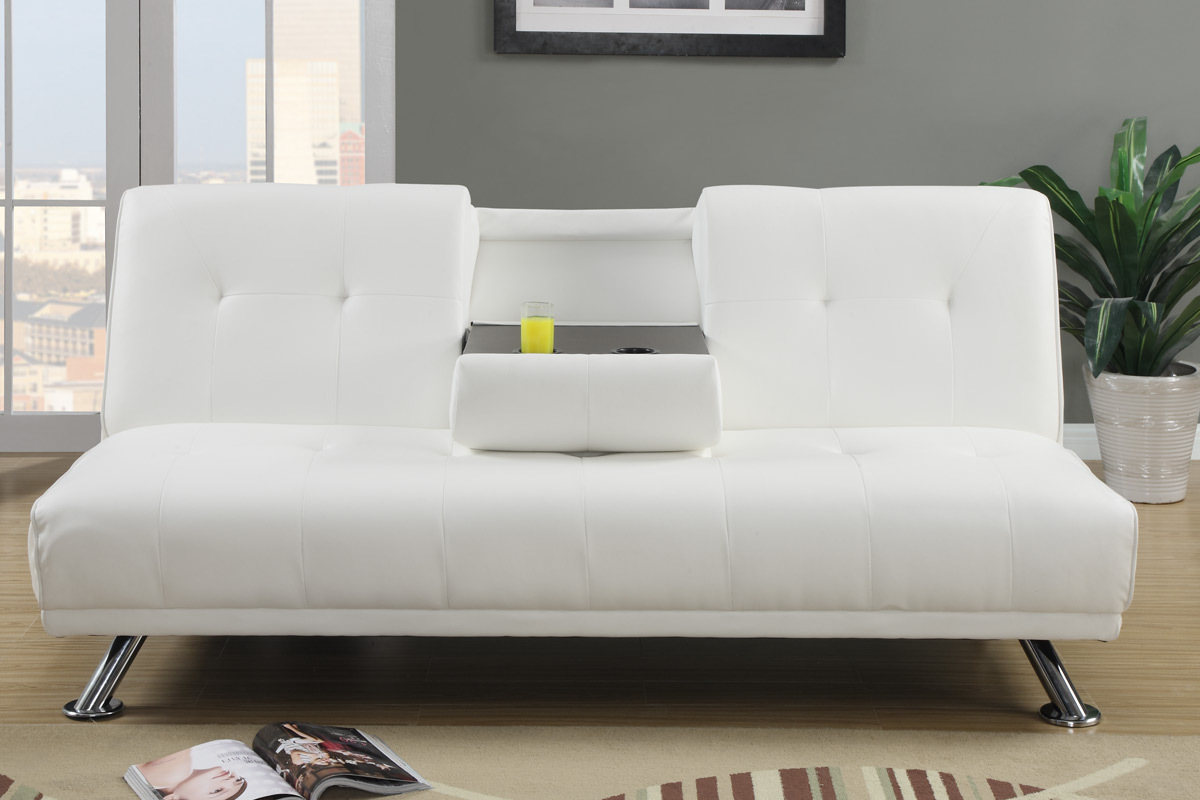 White Modern Fold Down Couch