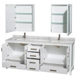 White Perfect 80 Inch Bathroom Vanity