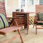 Wooden Small Balcony Furniture With Pillows