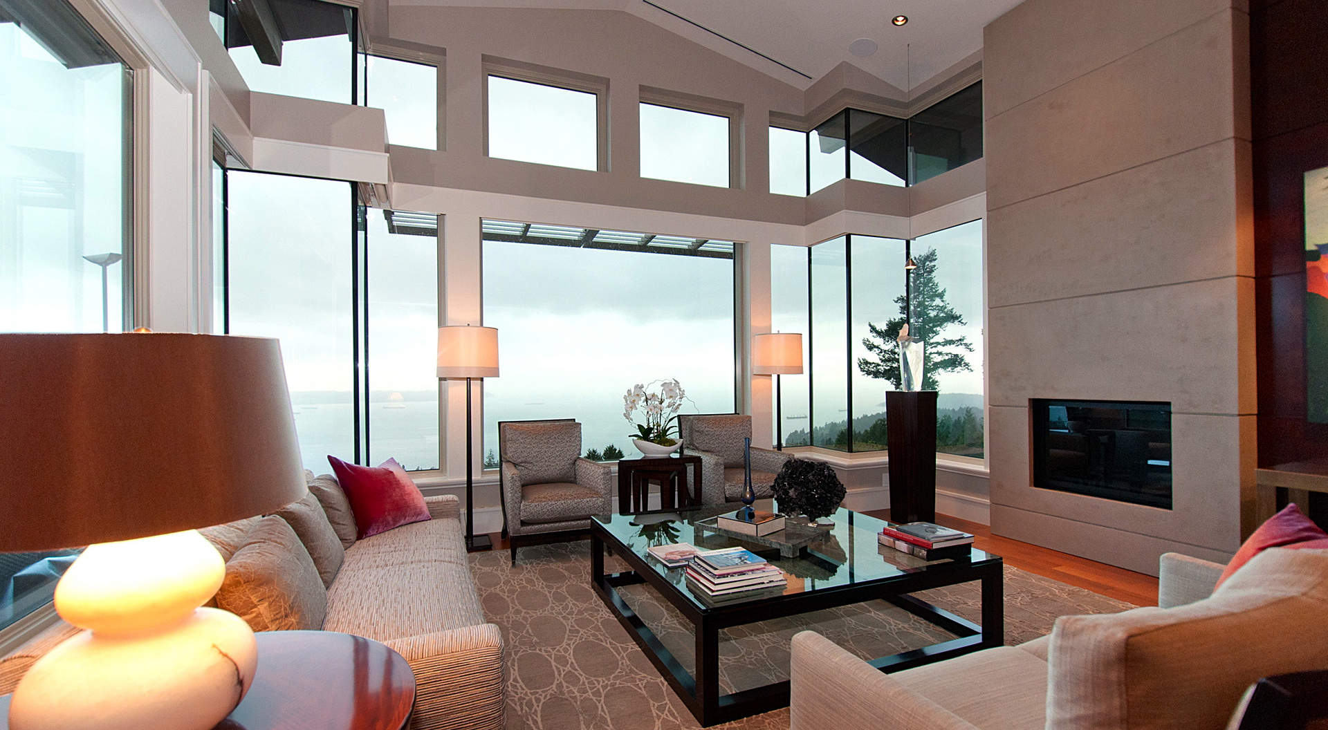 Open Floor Plan Living Room And Kitchen Coffee Tables