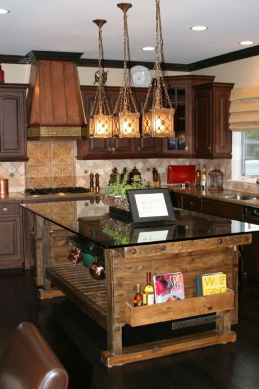 Home Interior Designs For Kitchens: Sweet Country Rustic Kitchen Idea