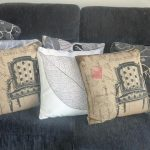 amazing gray sofa design with gray patterned cushion rustic with white accent