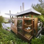 Architectural Small Compact House Design With Stunning Outdoor Garden And Three Stoey With Wooden Siding