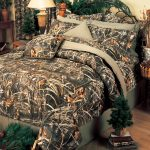 awesome bedroom with cool comforter sets in amazing pattern plus green plastic trees plus traditional table lamp