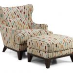 awsome cool accent chairs with comfy back plus cozy cushion and ottoman with wooden legs