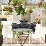 best interior design with luxurious black tufted chair and white chair and succulent planter ideas