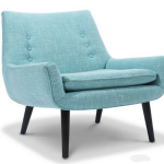 cool accent chairs in aqua blue with attractive design for home decorating idea