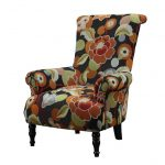 cool cool accent chairs with floral patterned and wooden leg plus high back