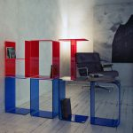 creative-and-decorative-Red-and-Blue-transparent-colors-of-acrylic-material-with-red-acrylic-for-HOT-above-blue-acrylic-for-COLD-placed-in-living-room-or-home-office