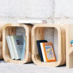 decorative-light-wooden-letters-for-shelves-by-Giulia-Bortolotti-and-Lucio-Leone-for-books-storage-also-using-water-based-paint-and-sealers