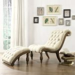 Delightful Oxford Creek Furniture With Classy Tufted Lounge Chair Plus Tufted Wooden Foot Stool Plus Laminating Flooring And Picture Frame On Wall Decoration