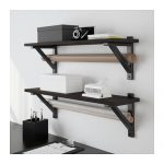 ekby-hemnes-ekby-valter-wall-shelf-in-black-for--books-and-stuffs-by-carina-bengs-made-of-solid-birch-and-acrylic-paint-for-the-bracket-and-solid-pine-and-stain-for-the-shelf