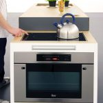 electric small stove oven for advanced kitchen ideas plus timer adorned by greenery on the top of kitchen cabinets
