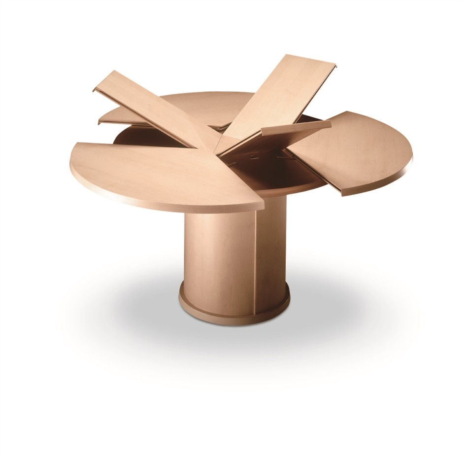 Interleafings Garden Designers Roundtable Expanding: The Great Expanding Round Dining Table