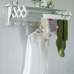 extending-clothes-drying-rack-versatile-dove-grey-wooden-dryer-with-seven-rails-and-six-wooden-hooks-beneath-and-a-handy-top-shelf-made-of-birch-plywood