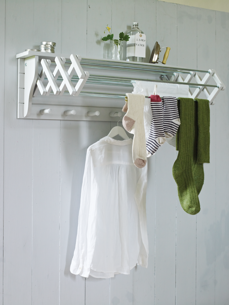 Clothes Drying Ideas ~ Useful wall mounted drying rack homesfeed