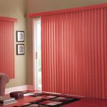 glass door coverings with soft red drapes for inviting and friendly home ideas and colorful rug
