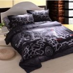leopard car cool comforter sets decorated in comfortable bedroom ideas plus with side table and round mat plus light wooden laminate floor