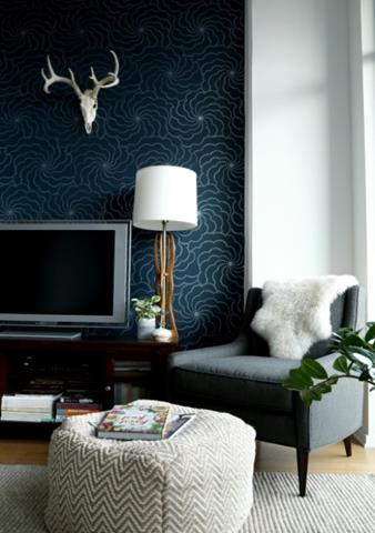Interior with Double Accent Wallpaper - Smart Choices ...