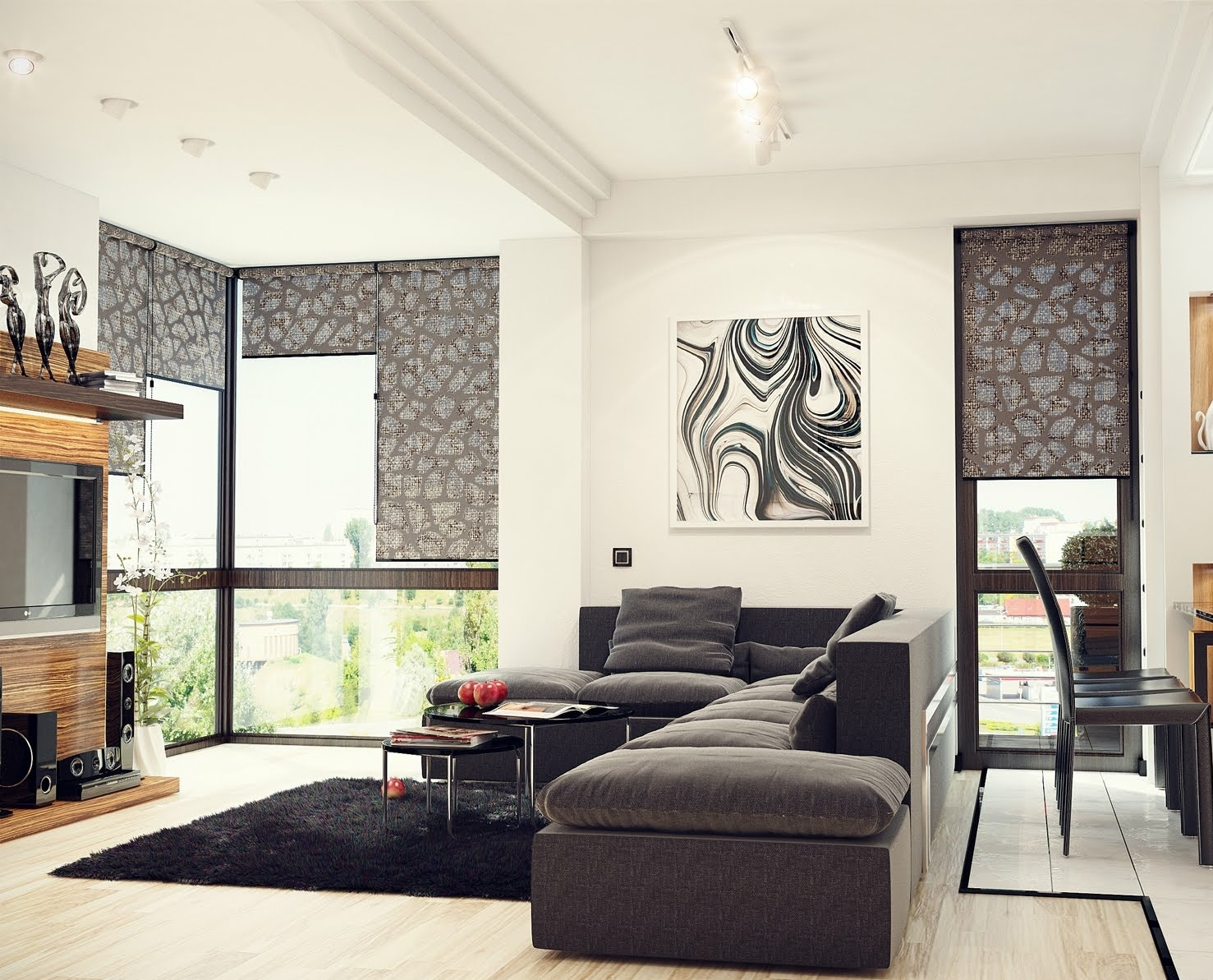 Black Living Room Rugs – Intentional Decoration for Classy ...