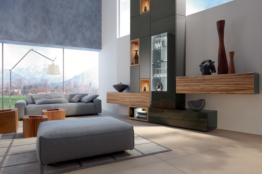 Living Room Design With Gray Sofa Displays Comfort And