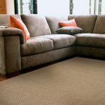 Sisal Rug With Soft Fabric Near Sectional Sofa
