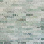 ming green marble tile in brick pattern for beautiful wall ideas