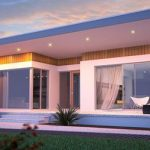 modern single storey house design with luxurious features and great lighting and outdoor ladnscape