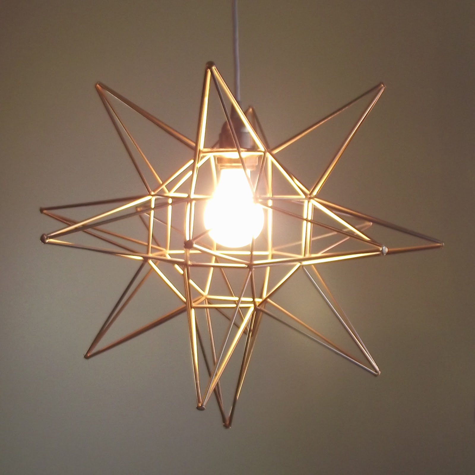 Moravian Star Pendant Light Fixture Made Of Metal Wire With Bulb For Home Decorating Ideas