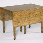 narrow drop leaf table with clear natural lines