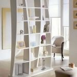 nice-decorative-shelving-unit-as-room-dividers-with-white-book-shelves-partitions-in-living-room-for-keeping-stuffs-books-and-clock-in-white-room