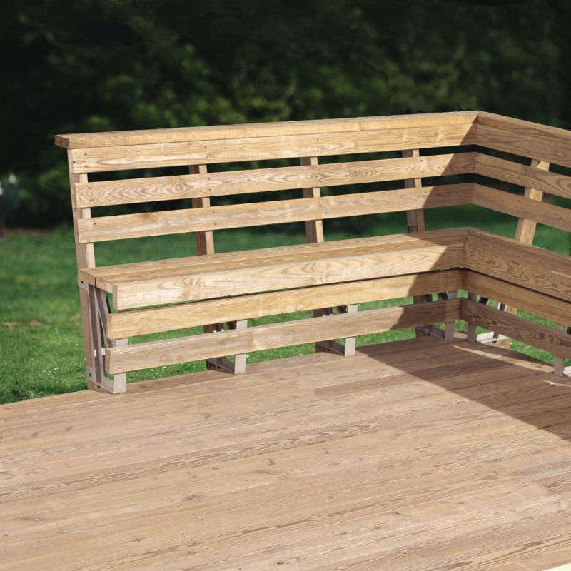 Fine Outdoor Corner Bench Ideas Which Are Perfect For Family Theyellowbook Wood Chair Design Ideas Theyellowbookinfo