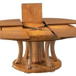 pavlovsk-expanding-round-dining-table-with-a-transitional-karelian-birch-and-fine-stainless-steel-and-four-pie-planks-and-four-hidden-leaves