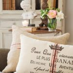 pure white patterned rustic cushion idea with letter decoration on white sofa design with pink rose decoration