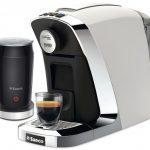 saeco espresso machine with milk frother in fascinating white scheme