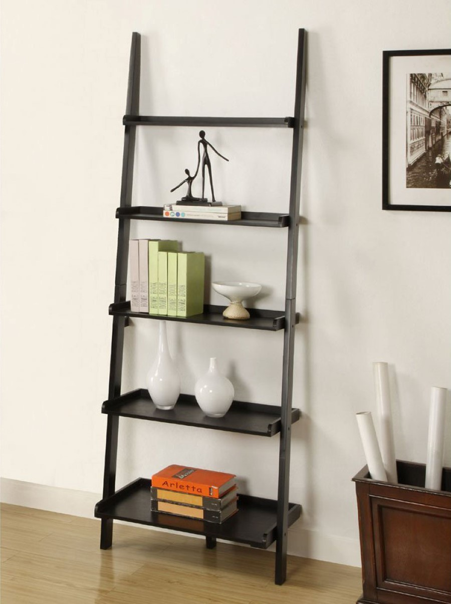 Contemporary Ladder Bookshelves Ideas For Unique Interior