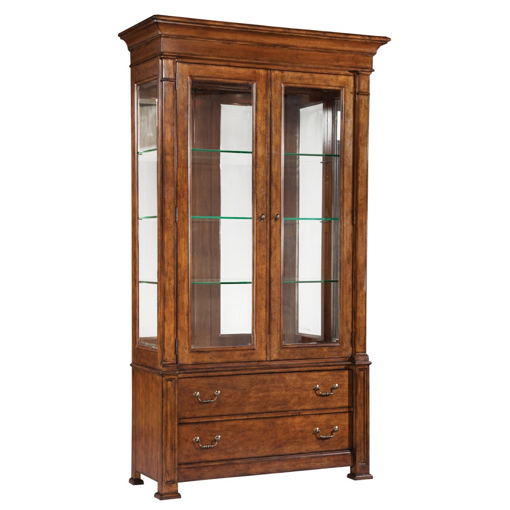 Tall China Cabinet Solving Storage Issues - HomesFeed
