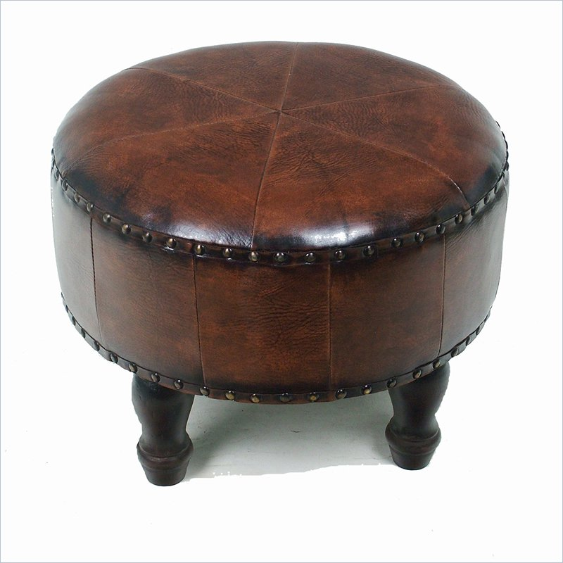 small round ottoman giving extra update in your home decor homesfeed. Black Bedroom Furniture Sets. Home Design Ideas
