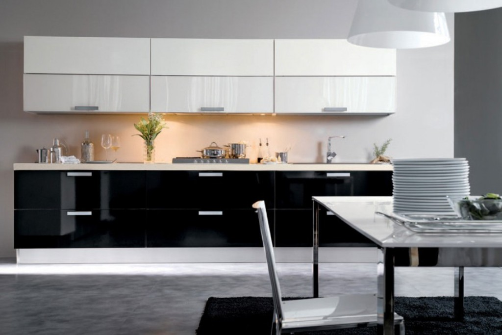 Stunning White And Black Kitchen Design Decor Ida With Dining E Gray Flooring