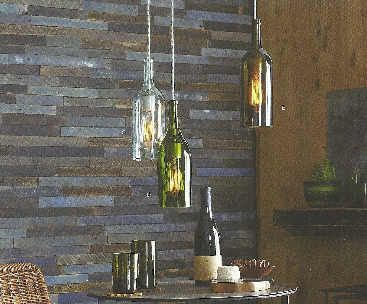 DIY: How to Recycle Wine Bottle into Chandelier - HomesFeed