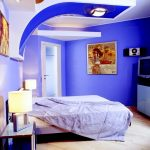 super bright blue best paint colors for small room with canopy and white bedding and beige flooring and blue siding