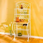 the-Southern-Enterprises-Trellis-Bakers-Rack-in-white-color-with-five-shelves-and-space-for-wine-bottles-and-curved-details-and-metal-lattice-work(1)