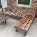 traditional outdoor corner bench for simple patio and coffee table with metal base and wooden top