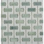 trelis ming green marble tile in combination with white thassos tile for stunning wall ideas