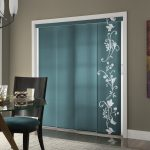 Turquoise Glass Door Coverings With White Pattern Decorated In The Dining Room With Comfy Chairs And Round Glass Dining Table With Wooden Legs And Greyish Rug
