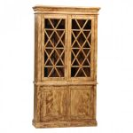unique tall china cabinet in cracle pant for rustic and traditional home ideas