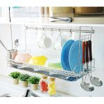 wall-mounted-dish-drying-rack-over-the-sink-from-Dae-Myung-I-Nex-brand-made-of-stainless-steel-caddy-fits-with-hooks-and-hook-hanger-bar-made-in-korea