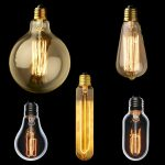 5 sets of old fashioned light bulb for traditional atmosphere in home interior